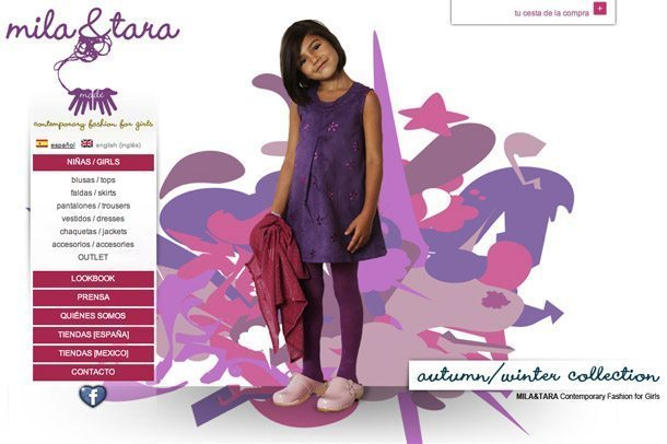 Online childrens clothing e-commerce store